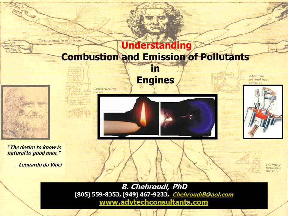 Understanding Combustion & Emission od Pollutants in Engines