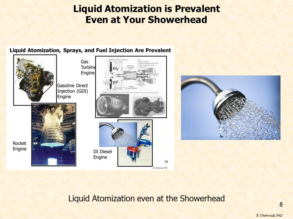 Liquid Atomization is Prevalent Even in Your Showerhead