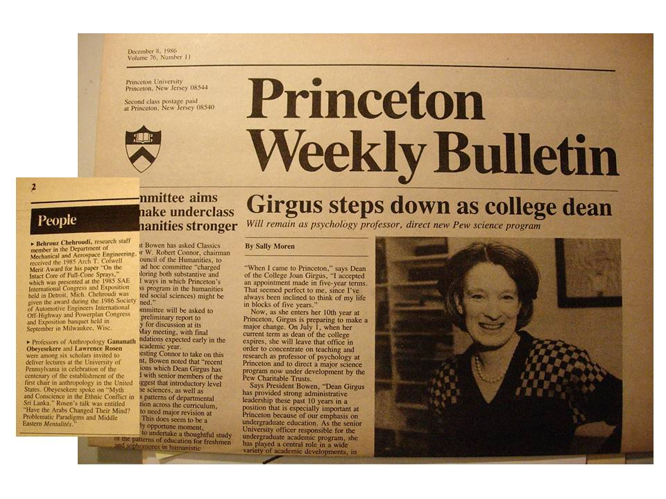 Princeton University Weekly Bulletin _ Chehroudi