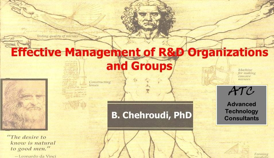 Research and Development Management Chehroudi